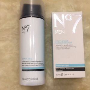 No7 Men Shave Gel & Recovery Balm (New)